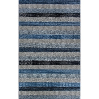 Eternity Striped Blue Rug (2' x 3'11)
