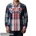 V.I.P. Collection Men's Two-Pocket Slim-Fit Long Sleeve Button Down Shirt