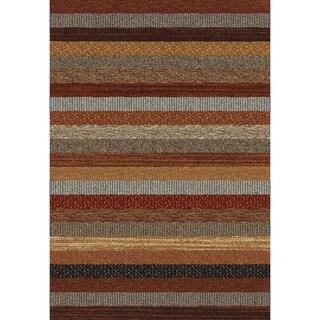 Eternity Striped Multi-colored Rug (2' x 3'11)
