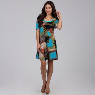 Women's Multicolored Printed Knee-length Dress