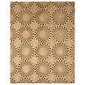 Hand-tufted Modern Animal Skin Brown Wool Rug (5' x 8')