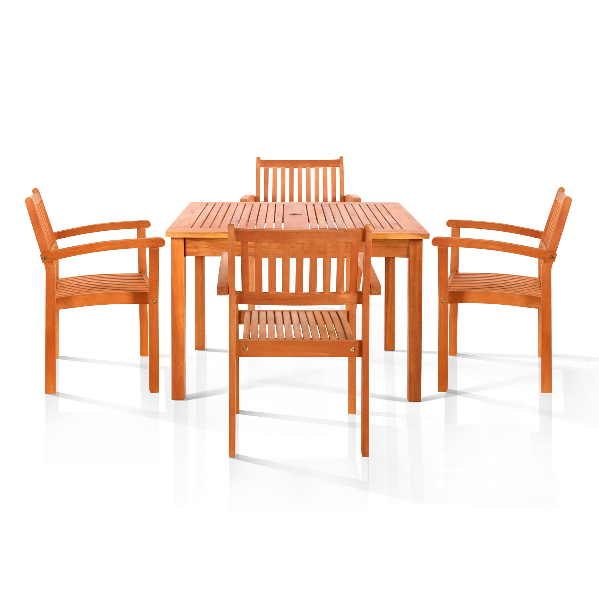 Vifah Hardwick 5-piece Oil Rubbed Outdoor Dining Set at Sears.com