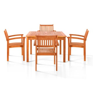Hardwick 5-piece Oil Rubbed Outdoor Dining Set