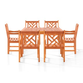Nantucket 7-piece Oil Rubbed Outdoor Dining Set