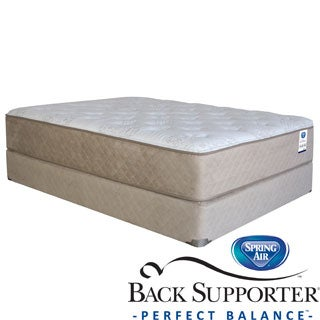 Spring Air Back Supporter Roseworth Plush Twin XL-size Mattress Set