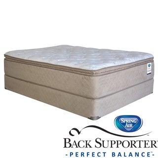 Spring Air Back Supporter Roseworth Pillow Top Twin XL-size Mattress Set