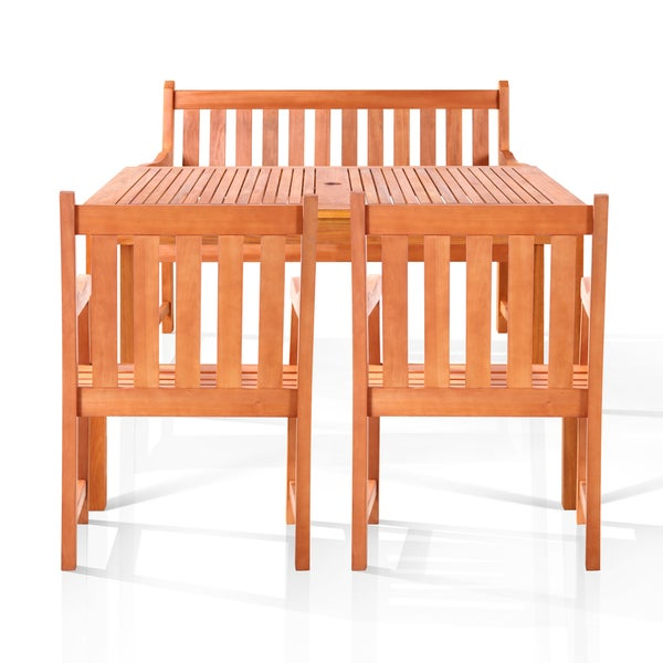 Vincent Bench-seater Outdoor Dining Set