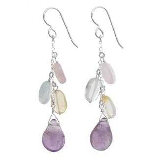 Ashanti Sterling Silver Gemstone Earrings (Sri Lanka)