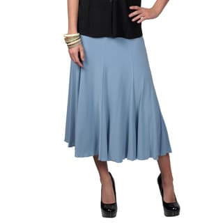 Journee Collection Women's Elastic Flowing Flare Skirt