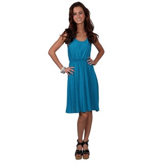 Journee Collection Juniors Sleeveless Scoop Neck Dress with Cinched Waist