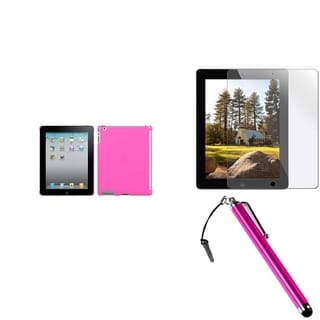 BasAcc SmartSlim Case/ Stylus/ Screen Protector for Apple iPad 2/ 3/ 4