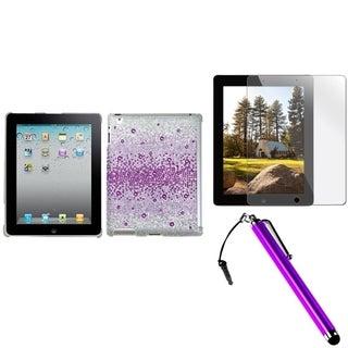 BasAcc Purple Case/ Stylus/ Screen Protector for Apple iPad 2/ 3/ 4