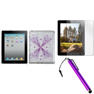 BasAcc MyJacket Case/ Stylus/ Screen Protector for Apple iPad 2/ 3/ 4