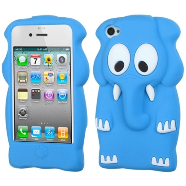 BasAcc Teal Elephant Baby Pastel Skin Case for Apple iPhone 4/ 4S
