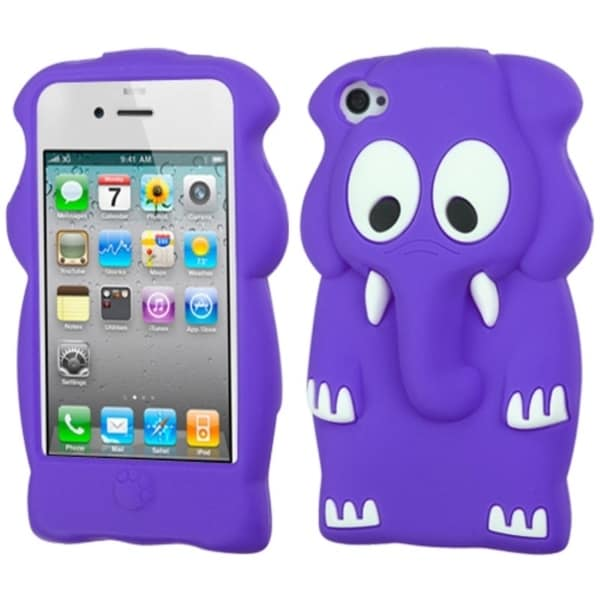 INSTEN Purple Elephant Baby Pastel Skin Phone Case Cover for Apple iPhone 4/ 4S