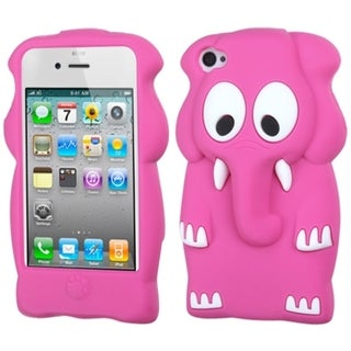 BasAcc Hot Pink Elephant Baby Pastel Skin Case for Apple iPhone 4/ 4S