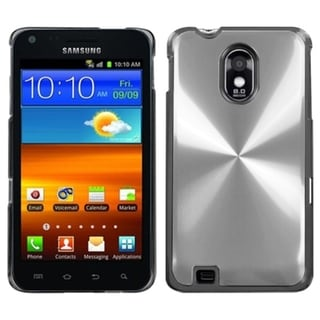 INSTEN Silver Cosmo Back Hard Plastic Phone Case Cover for Samsung Galaxy S2/ S II i9100
