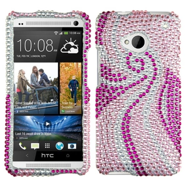 INSTEN Phoenix Tail Diamante Phone Case Cover for HTC One