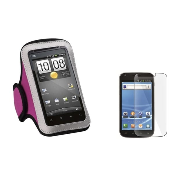 INSTEN Pink Armband/ Screen Protector for Samsung Galaxy S2/ S II T989