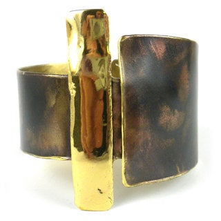 Handcrafted Zen Brass Cuff (South Africa)