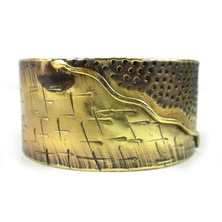 Handcrafted Convergence Brass Cuff (South Africa)