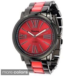 Geneva Platinum Women's Roman Numeral Link Watch