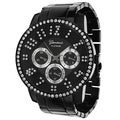 Geneva Platinum Men's Rhinestone Accent Milgrain Watch