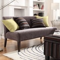 INSPIRE Q Wicker Park Dark Grey Chenille Armless Sofa