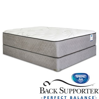 Spring Air Back Supporter Woodbury Plush California King-size Mattress Set