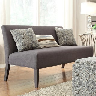 INSPIRE Q Wicker Park Dark Grey Linen Armless Sofa