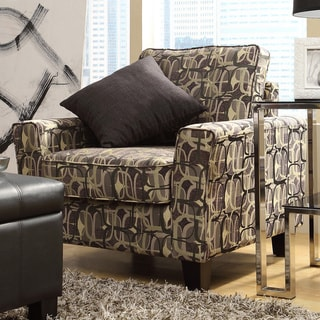Hampton Fun Geometric Print Upholstered Track Arm Chair