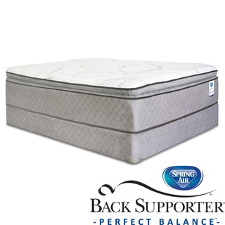 Spring Air Back Supporter Woodbury Pillow Top Queen-size Mattress Set