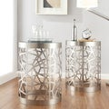 INSPIRE Q Neva Web Support Metal Accent Table
