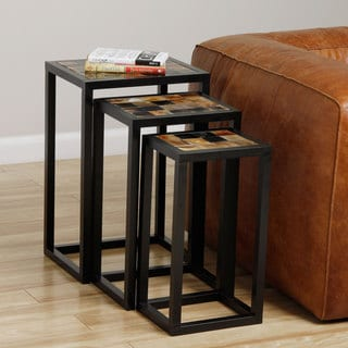 Set of 3 Nested End Tables (India)