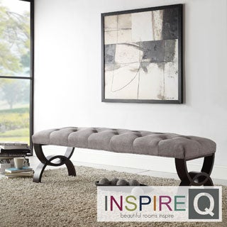 INSPIRE Q Wellington Grey Linen Arched Base Bench
