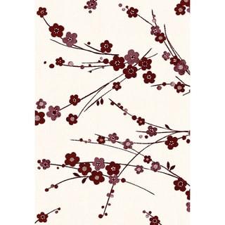 Eternity Cherry Blossom Multi Area Rug (5'3 x 7'7)