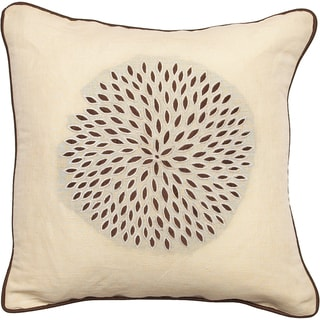 Surya Beige Floral22-inch Decorative Throw Pillow