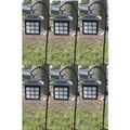 Solar Pagoda Light Black Finish (Set of 6)