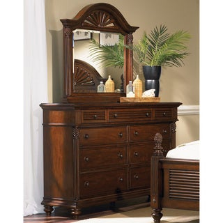 Liberty Royal Landing Cherry 9-drawer Dresser/ Arch Mirror Set