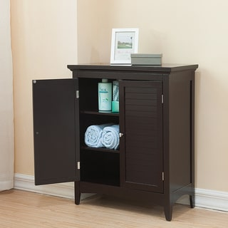 Bayfield Dark Espresso Double-door Floor Cabinet by Elegant Home Fashions