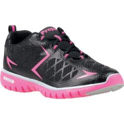 Women's Propet TravelSport Black/Hot Pink