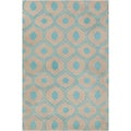 Allie Hand-tufted Abstract Grey-Blue Wool Rug (5' x 7'6)