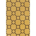Allie Hand-tufted Geometric Gold/ Brown Wool Rug (5' x 7'6)