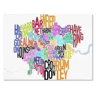 Michael Tompsett 'London Text Map' Canvas Art