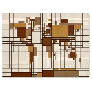Michael Tompsett 'Mondrian World Map' Canvas Art