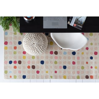 Allie Hand-tufted Multicolor Geometric Wool Rug (5' x 7'6)