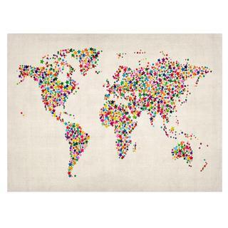 Michael Tompsett 'Stars World Map 2' Canvas Art