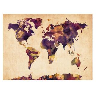 Michael Tompsett 'Watercolor Map 2' Canvas Art
