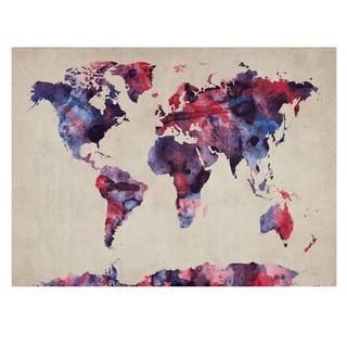 Michael Tompsett 'Watercolor Map' Canvas Art