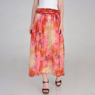 Vivienne Vivienne Tam Women's Watercolor Print Maxi Skirt